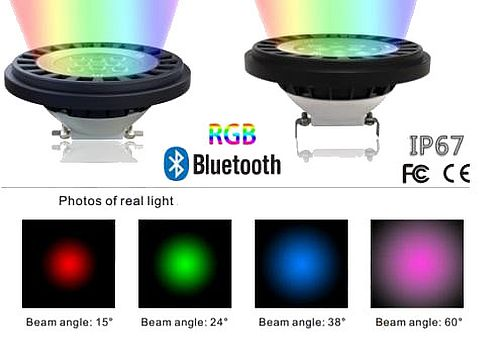 Bluetooth RGBW AR111 LED IP67