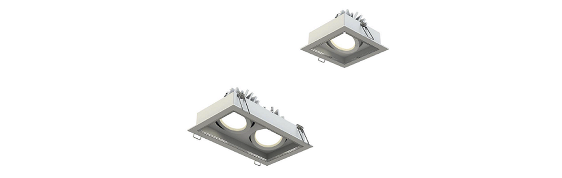Compact recessed adjustable fixtures