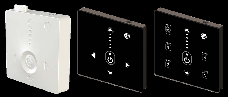 Wallswitch for halcyon lighting systems